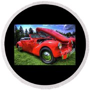 1969 Cord Automobile Round Beach Towel