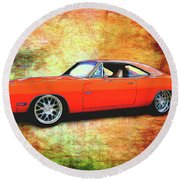1970 Dodge Charger Round Beach Towel