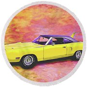 1970 Superbird Round Beach Towel