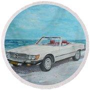 1979 Mercedes 450 Sl Round Beach Towel