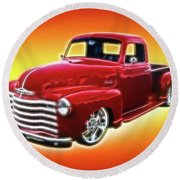 19948 Chevy Truck Round Beach Towel