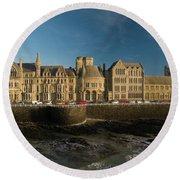 Aberystwyth University Old College Building Round Beach Towel