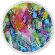 Abstract 224 Round Beach Towel
