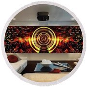 Abstract Power Change Round Beach Towel
