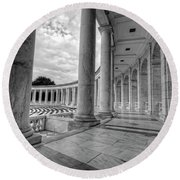 Arlington National Cemetery Memorial Amphitheater Round Beach Towel