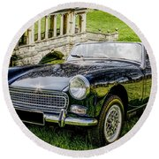 Austin Healey Sprite Round Beach Towel