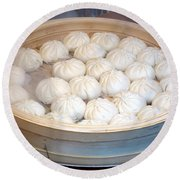 Chinese Steamed Buns Round Beach Towel