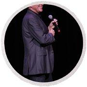 Comedian Craig_ferguson Round Beach Towel