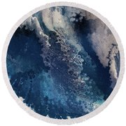 Round Beach Towel featuring the painting 2 Corinthians 4 16. Seeing The Invisible by Mark Lawrence