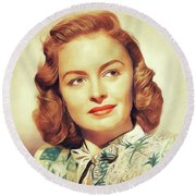 Donna Reed, Vintage Actress Round Beach Towel