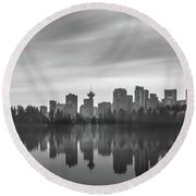 Downtown Vancouver Round Beach Towel