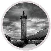 Glenfinnan Monument Round Beach Towel