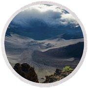 Haleakala Crater Round Beach Towel