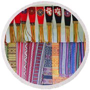 Indigenous Arts And Crafts Round Beach Towel