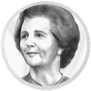 Margaret Thatcher Round Beach Towel