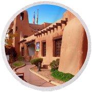 New Mexico Museum Of Art Round Beach Towel