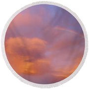 Rainbow In Sky Round Beach Towel