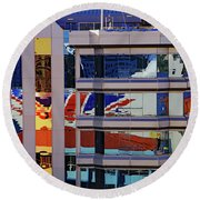 Round Beach Towel featuring the photograph Reflections by Tony Murtagh
