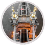 Roebling Tower Round Beach Towel