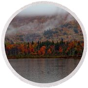 The Basin In Maine Round Beach Towel