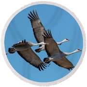 Tight Formation Round Beach Towel