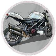 2015 Ducati Streetfighter Round Beach Towel