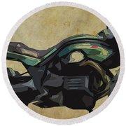 2015 Moto Guzzi Griso, Original Abstract Art Round Beach Towel