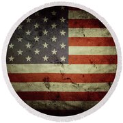 American Flag No.195 Round Beach Towel
