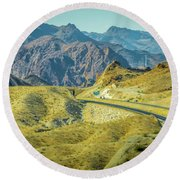 Round Beach Towel featuring the photograph Red Rock Canyon Landscape Near Las Vegas Nevada by Alex Grichenko