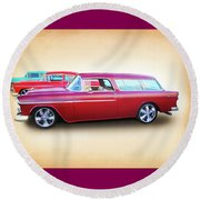3 - 1955 Chevy's Round Beach Towel