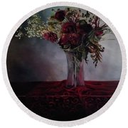 Beauty For Ashes Round Beach Towel