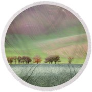Autumn In South Moravia 3 Round Beach Towel