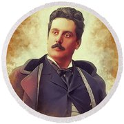 Giacomo Puccini, Famous Composer Round Beach Towel