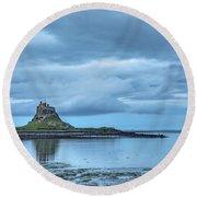 Holy Island Of Lindisfarne - England Round Beach Towel