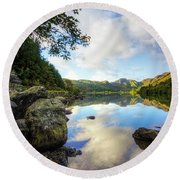 Llyn Crafnant Round Beach Towel