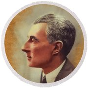 Maurice Ravel, Famous Composer Round Beach Towel