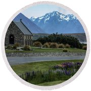 Tekapo - New Zealand Round Beach Towel
