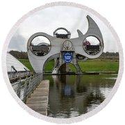 The Falkirk Wheel Round Beach Towel