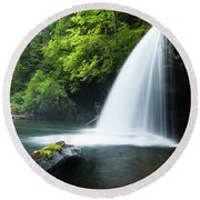Waterfall In A Forest, Samuel H Round Beach Towel