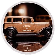 33 Plymouth Police Round Beach Towel