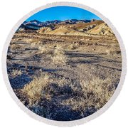Round Beach Towel featuring the photograph Death Valley National Park Scenes In California by Alex Grichenko