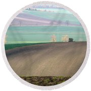 Autumn In South Moravia 5 Round Beach Towel