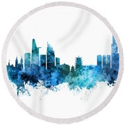 Ho Chi Minh City Vietnam Skyline Round Beach Towel