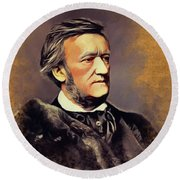 Richard Wagner, Famous Composer Round Beach Towel