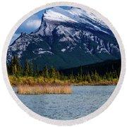 Vermillion Lakes, Banff National Park, Alberta, Canada Round Beach Towel
