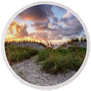 48th Ave. Sunrise North Myrtle Beach Round Beach Towel