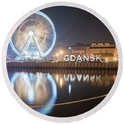 Gdansk, Poland Round Beach Towel