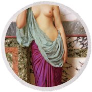 In The Tepidarium Round Beach Towel