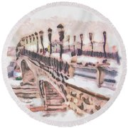 Moscow Russia   Round Beach Towel
