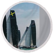 M32 Chicago Round Beach Towel
